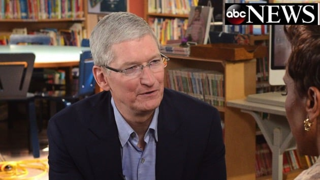 Tim Cook during the interview
