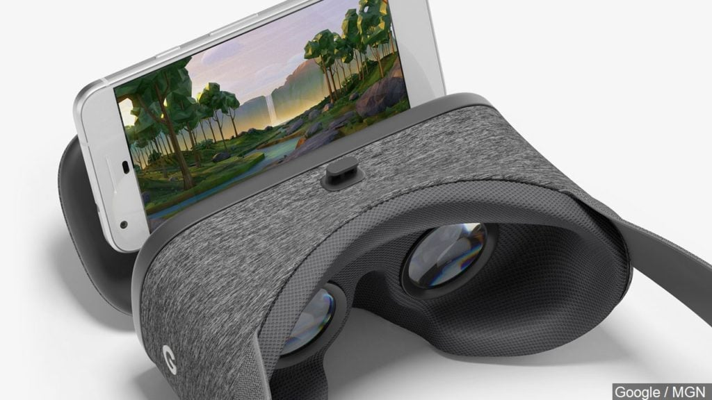 Google Pixel with DayDream VR Headset