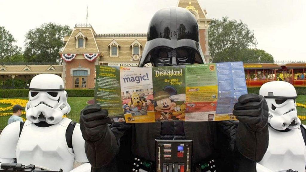 Star Wars characters in Disneyland