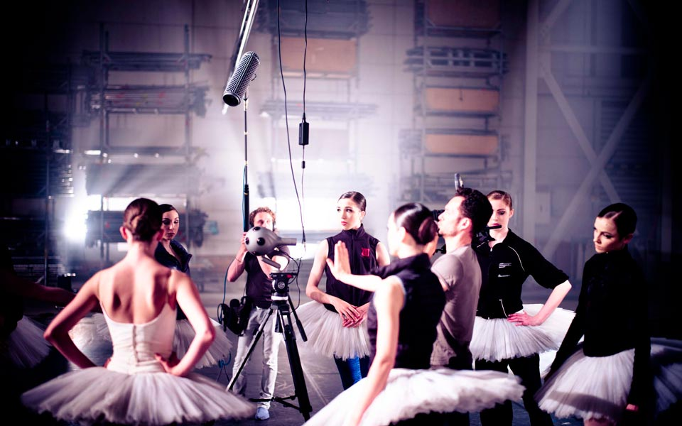 Virtual Reality Ballet being choreographed