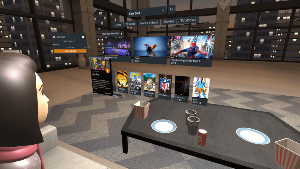 Virtual Reality Movie App