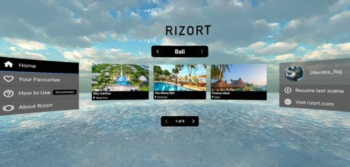 Rizort – Check Out Your Travel Destination In VR Before You Book